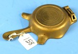 Ashtray W/match Holder; Griswold Erie Pa; Size 00; P/n 570; Patent Underneath Hndl.; Brass