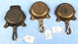 3 Ash Trays: Quality Ware (griswold Logo) Made In Usa; Quality 0 Ware (griswold Logo) & Quality Wa