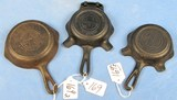 3 Pcs: Ash Tray Quality Ware 00 (griswold Logo) Erie Pa P/n 570 W/match Holder; Quality Ware (grisw