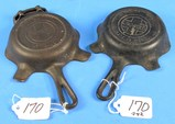 2 Ash Trays: Quality Ware (griswold Logo) Made In Usa; Quality Ware 00 (griswold Logo) Erie Pa P/n