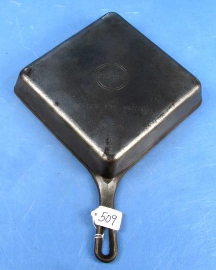 Square Fry Skillet; Corner Hndl.; Griswold; Sl; No. 768
