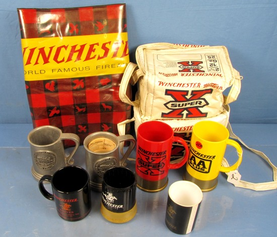 Winchester Lot; Contemporary (mugs; Counter Mat; Avon Shot Shell Colognes; Plastic Super X Shell Ca