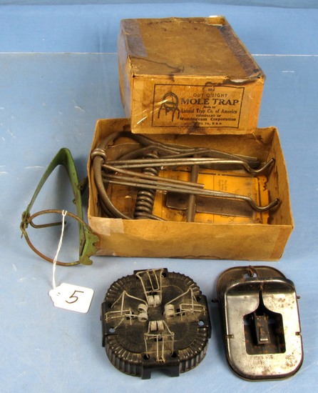 Assorted Rodent Traps: Mole (in Orig. Box); Mouse; Etc.