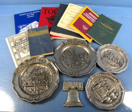 Lot: Mwtc Tool Co. Books & Pewter Commemorative Plates