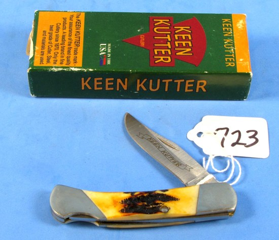 Pocket Knife; Bear Mgc; Kk505; Lockback; Stag-like Hndl.; In Box; Nib