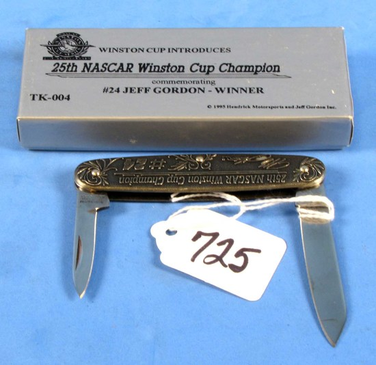 Pocket Knife; Winchester 25th Nascar Winston Cup Champion; #24 Jeff Gordon; Tk-004; Nib