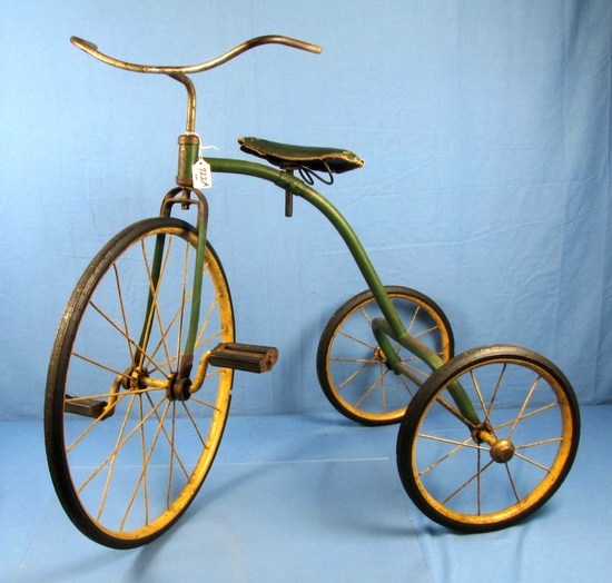 Tricycle; Simmons; Orig. Green Paint; Everything Orig. Badge: Westminister Simmons Hdwe. Early; Des
