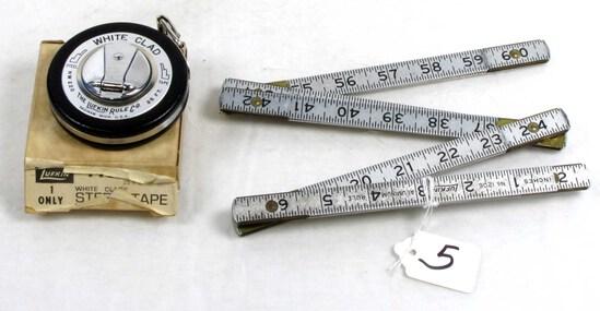 Steel Tape & Alum Folding Rule; Both Lufkin