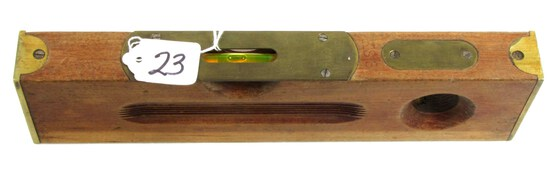 "12"" Wood Level; Kk; K58; Mahogany W/ Brass Ends"