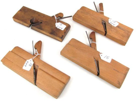 3 Wood Moulding Planes; Ccr; 6; 10 12 & Shapleigh Day 116