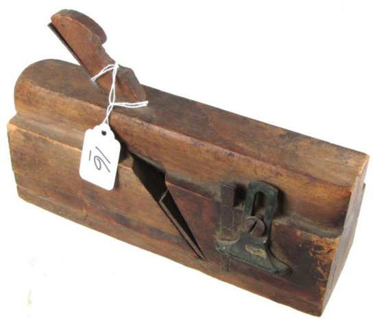 1860ins Wooden Plane; 9.5in; Side Bead; Shapleigh Day & Co. 54