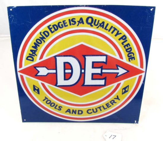 12in X 12in Metal Advertising Sign; Diamond Edge Is A Quality Pledge Logo