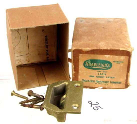 Shapleigh Store Stock; Nos; In Orig. Boxes: L601f Rim Night Latch;