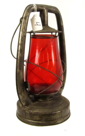 Lantern; Shapleigh Diamond; Red Globe; Shapleigh Hardware; No. 20