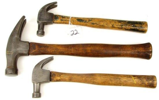 3 Claw Hammers; Ecs Kk