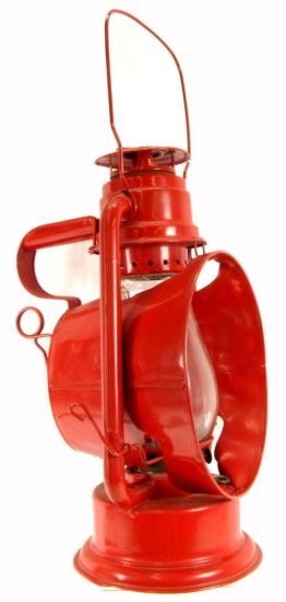 Railroad Inspectors Lantern; With Large Cone Reflector Shield & Mirrored Reflector At Back; S.H. Co