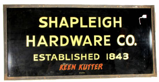 Fantastic Store Sign; Original Shapleigh Hardware Keen Kutter Advertising; Rare; One Of A Kind; Re