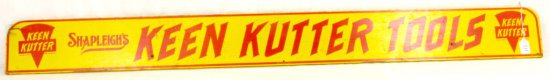 Advertising; Shapleigh's Keen Kutter Tools; 59in X 6in; Wooden; Yellow & Red