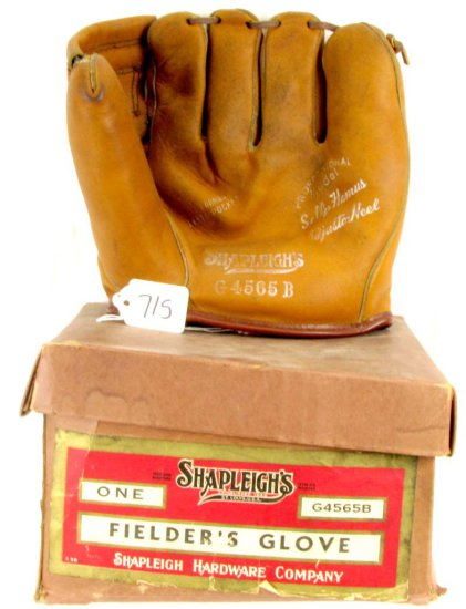 Baseball Fielder's Glove; G4565b; Shapleigh's W/original Box; Exc. Cond.