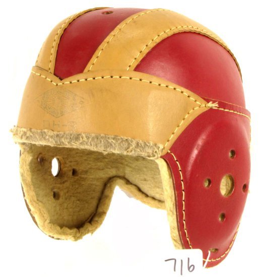 Leather Boy's Football Helmet; Dh-8; Shapleigh's Diamond Brand; (medium); Exc. Cond.
