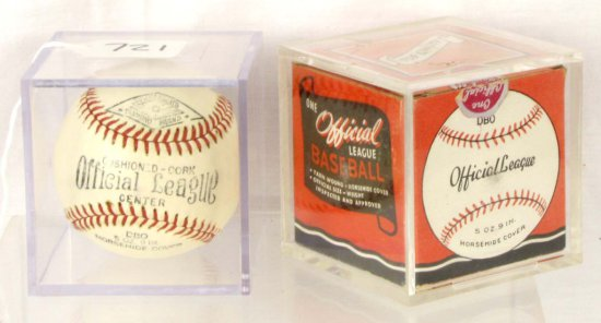 Baseball; Shapleigh's Diamond Brand; Official League; Nos W/original Box; #dbo