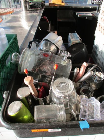 Plastic Tubs with Contents