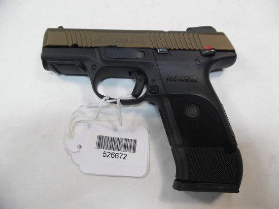 RUGER SR40C Pistol  40 SN:  345-25672 W/ mag,