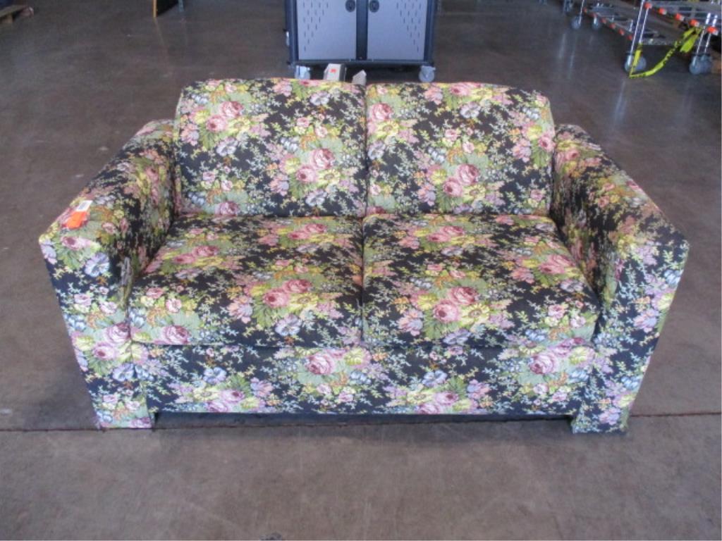 Multi-colored Floral Sofa