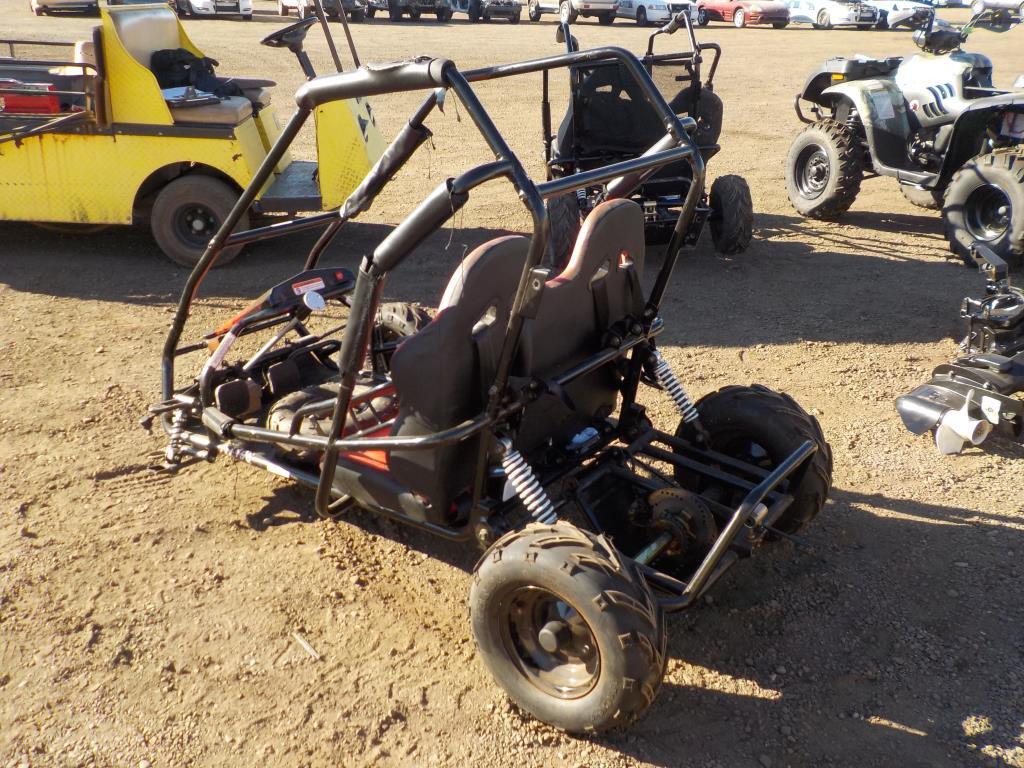 Lot: 2016 Coleman KT196 Go-Kart Frame   Proxibid Auctions