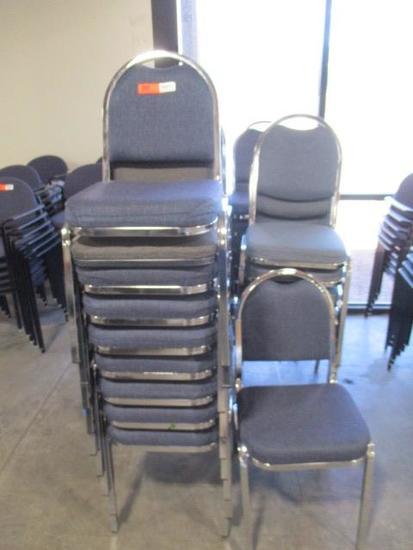 Blue Cloth Lobby Chairs