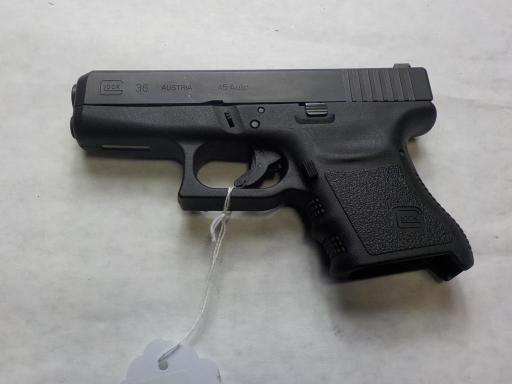 GLOCK 36 PISTOL 45 SN:  RUN090 NO MAG, AVERAGE