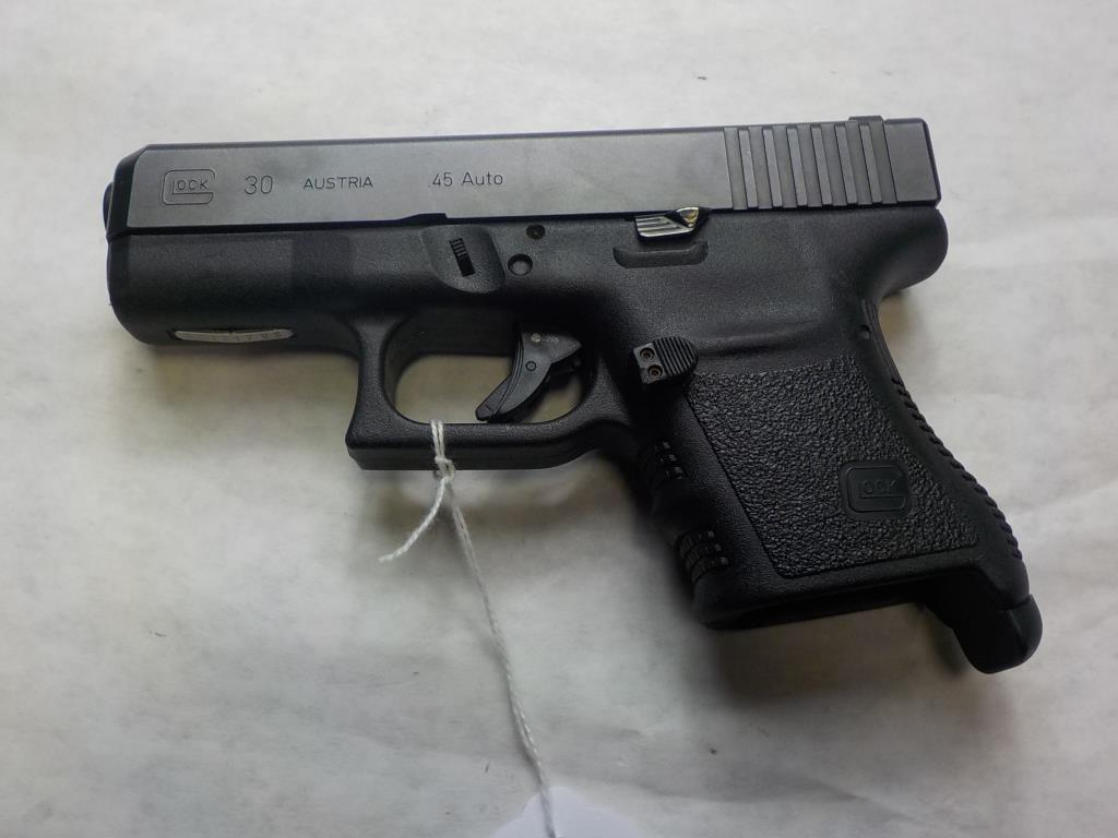 GLOCK 30 PISTOL 45 SN:  EXY212US NO MAG, AVERAGE