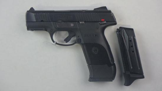 RUGER SR9C PISTOL 9MM SN:  334-35362 W/ 2 MAGS,