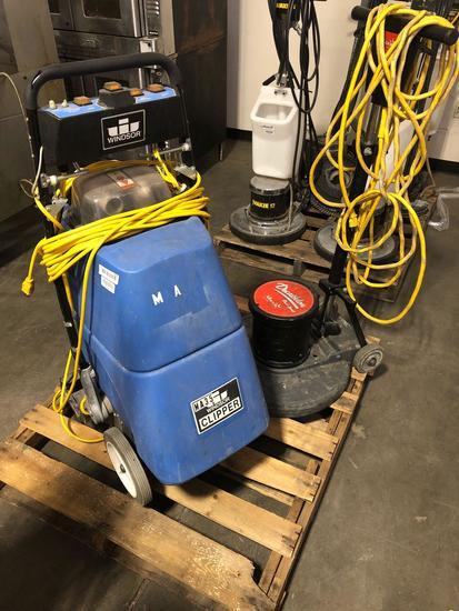 (1) pallet of 2 floor cleaning machines