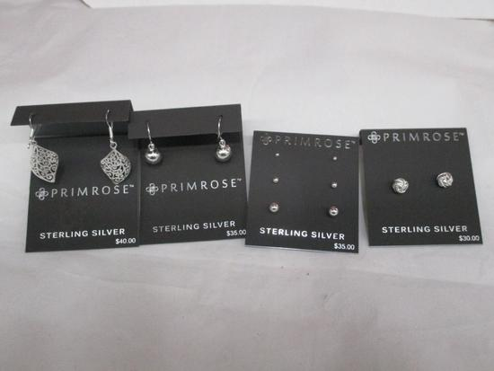 (4pc) Sterling Silver Earring Sets