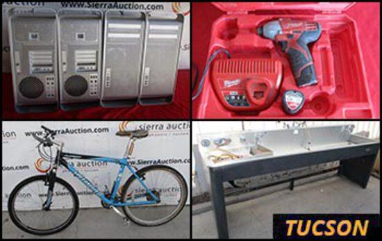 Online Only Public Surplus Auction - Tucson, AZ