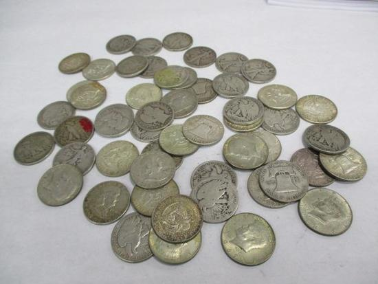 Grouping of Silver and Partial Silver Half Dollars