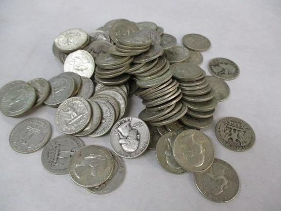 103 U.S. Washington Silver QuartersCondition: Fai