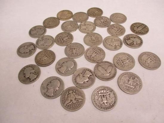 Grouping of 30 U.S. Silver Quarters including