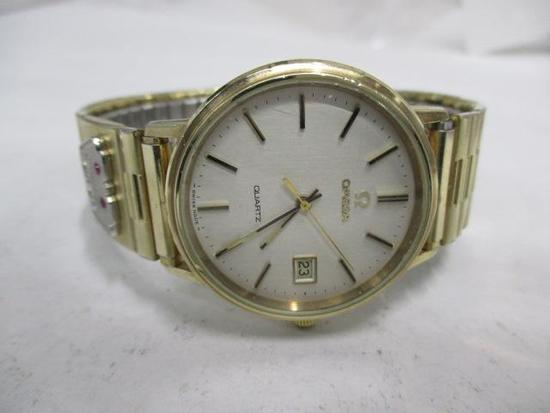 Men's Omega Wristwatch with 10K Rolled Gold Plate