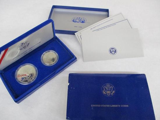 1986 United States Liberty Coins in Case