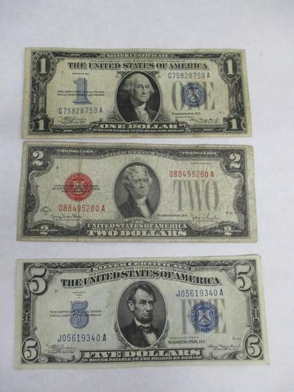 Grouping of U.S. Currency Including: