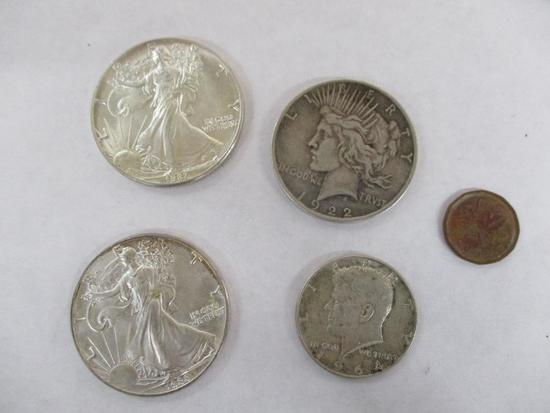 Grouping of U.S. and 1 Foreign Coin Including: