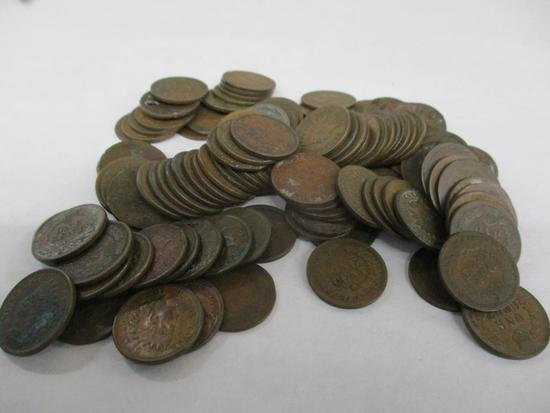 Grouping of 106 U.S. Indianhead Pennies and 1 U.S.