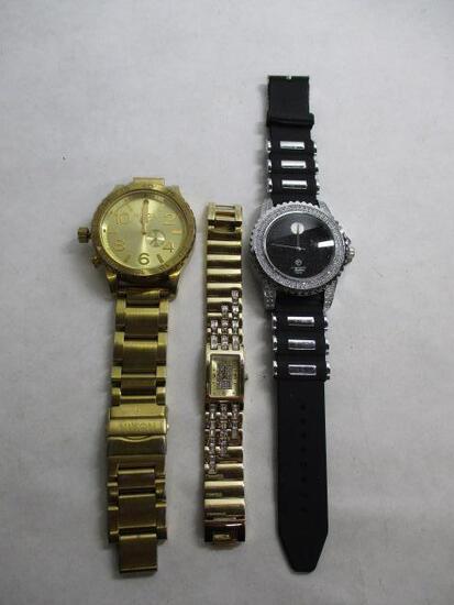 (3pc) Mens Marked Designer Watches
