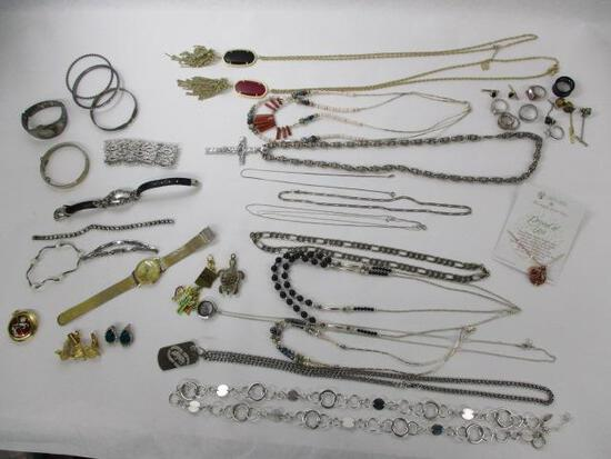 Box with Assorted Costume Jewelry