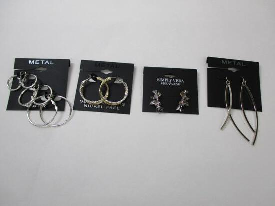 Sterling Silver (4pc) Assorted Earrings