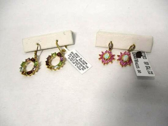 (2pc) Gold Over Silver Earrings