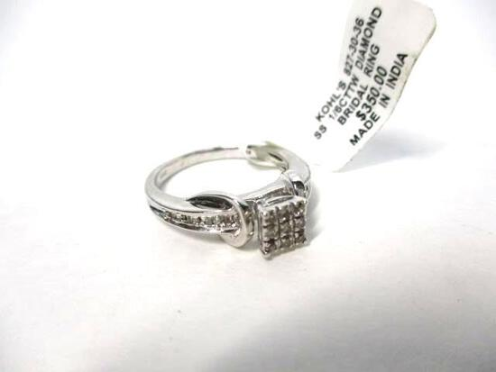 Sterling Silver 1/6 cttw Diamond Ring