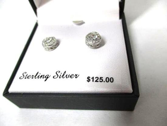 Sterling Silver Earrings With